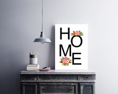 "Placa decorativa MDF ""Home"""
