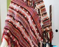 Poncho estilo mexicano no tear