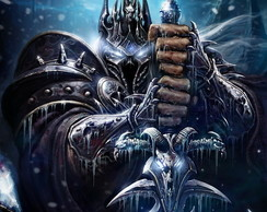 Poster World Of Warcraft Lich King LO001 Tamanho 90x60