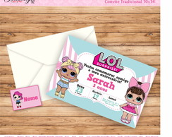 Convite L.O.L Surprise com Envelope