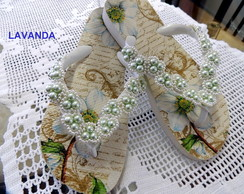 CHINELO DECORADO - LAVANDA