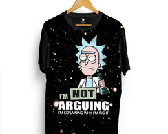 Camiseta Rick And Morty Cartoon Adult Swim Desenho Série L3