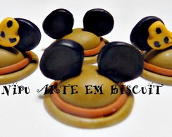 Aplique em Biscuit Mickey Minnie Safari