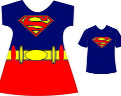 Kit Super girl e super man