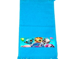 Kit 30 Toalhinhas Azul Littlest Pet Shop