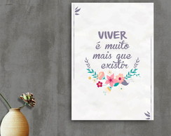 Placa Decorativa - Viver
