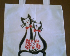 Eco Bag - Casal de Gatos