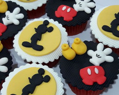 Cupcake decorado mickey