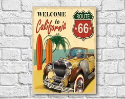 Placa Decorativa - Welcome to California