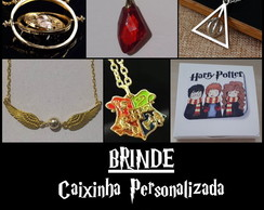 Big Kit - Colar Vira Tempo + 4 Colares Harry Potter