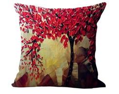 a5fafc430ef24e Capa de Almofada com Flor Vermelha | Elo7