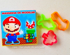 Kit Massinha e Cortador Super Mario Bros personalizado
