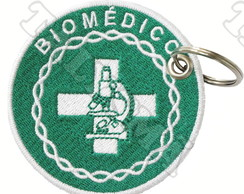 Chaveiro Patch Bordado - Biomédico AP00082