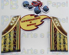 Topper Bolo Blaze and the Monster Machines 19x15cm