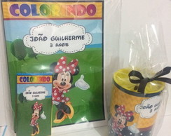Kit p colorir com cofre Mickey e minnie