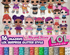 Kit Digital LOL Surprise Glitter Style