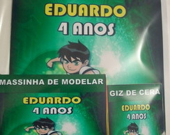 kit para colorir com massinha Ben 10