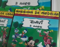 Kit p colorir com massinha turma do mickey