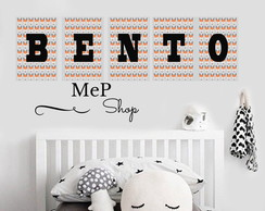 Placa Quadro Decorativa - Kit 5 Placas - Letras Nome - BENTO