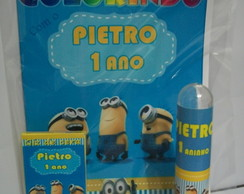 Kit p colorir e tubete Minions