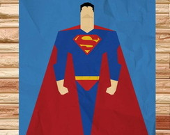 Placa -Super-Heroi Superman