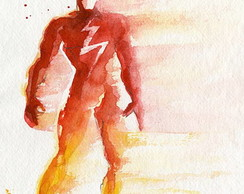 Placa -Super-Heroi flash