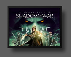 Quadro middle earth shadow of war blade of galadriel