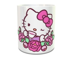 Caneca Hello Kitty Flores