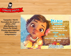 Convite Digital Moana baby - Arte Digital