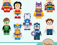 Kit Digital Super Heróis Lego 1097