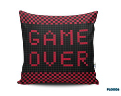 Almofada 40x40 Game Over Game Geek Nerd