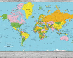 mapa do mundo completo Mapa do Mundo | Elo7 mapa do mundo completo