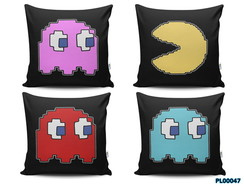 Almofada 40x40 Kit C/ 04un Game Retro Pacman Geek