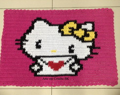 Tapete Croche Hello Kitty Carta