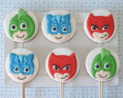 Biscoitos Decorados PJ Masks no palito