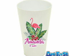 Copo Twister 550ml Personalizado - Flamingo - modelo 01