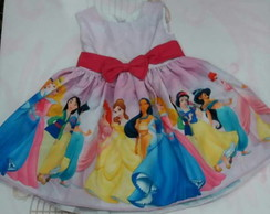 Vestido Princesas Da Disney 1 A 8 Elo7