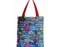Bolsa Tote Fundo do Mar - Dupla Face