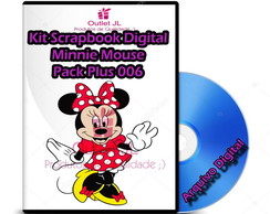Mega Scrapbook Digital - Minnie Mouse - Pack Plus - 006
