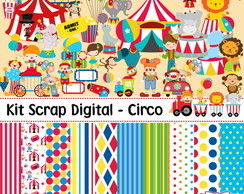 Kit Scrap Digital - Circo