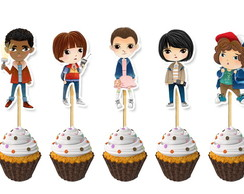 Topper Cupcake Stranger Things