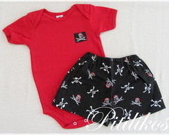 Conjunto Body e Short - Pirata