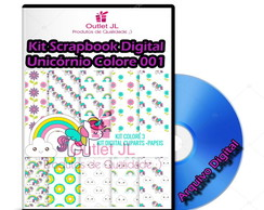 Ultra Pack Scrapbook Digital - Unicórnio Colore - 001