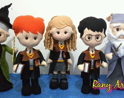 Turma Harry Potter com 5 personagens