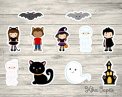 150 Apliques Festa Halloween 3,5 cm Tags Toppers