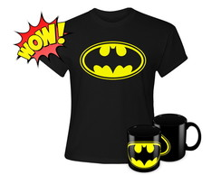 Kit Batman - 1 Caneca e 1 Baby Look