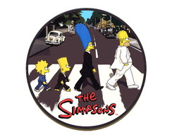 Quadro redondo Simpsons (Abbey Road)