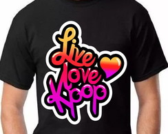 Camisa Live Love K-pop - Unissex