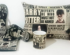 Kit Harry Potter Jornal Com Chinelo