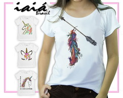 Camiseta Feminina Iaiá Brasil -Feather